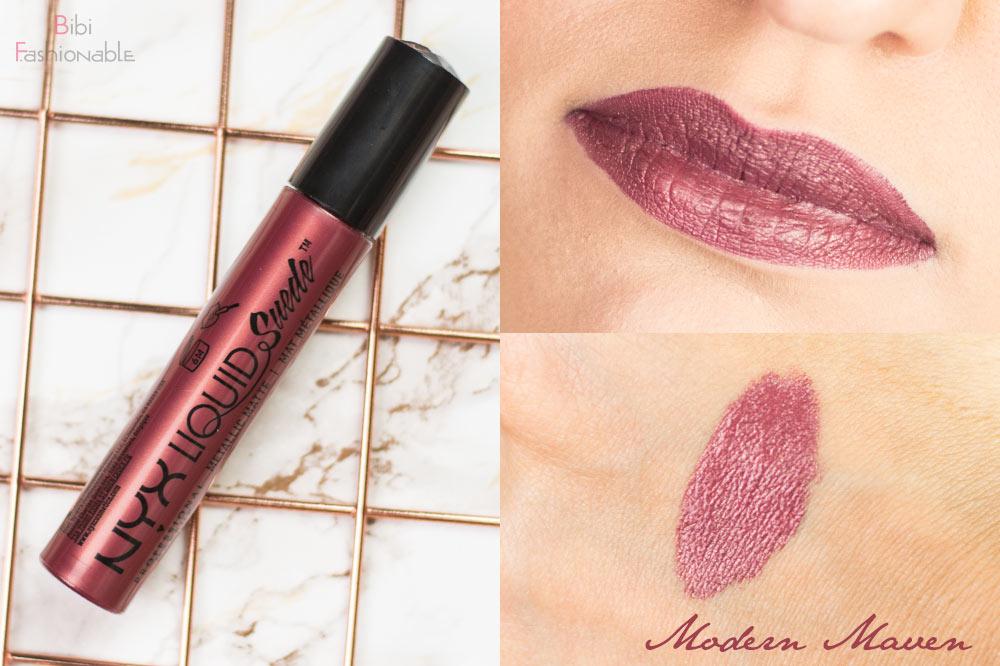 NYX Liquid Suede Metallic Matte Creme Lipstick LSCL39 Modern Maven inkl Swatches