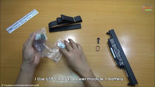 Power Bank membuat sendiri dari baterai laptop bekas