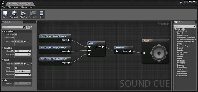 sound cue editor in Unreal Engine 4