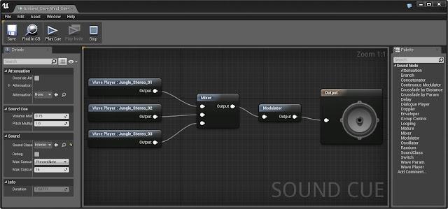 sound cue editor in Unreal Engine 4