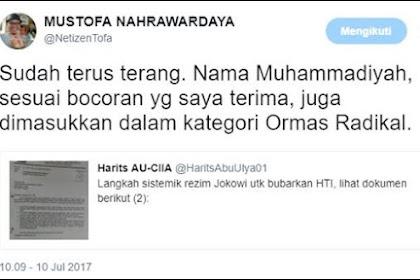 Parah Jika Benar Muhammadiyah Dimasukkan dalam Kategori Ormas Radikal!