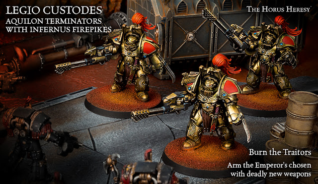 *BITS* Legio Custodes Aquilon Terminator Infernus Firepikes Forgeworld