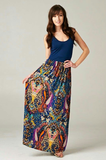 Cool pattern maxi dress