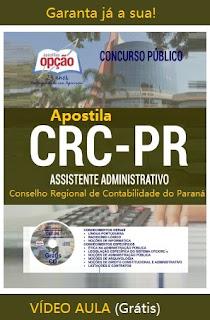 Apostila gratis Concurso CRC/PR - Conselho Regional de Contabilidade PR.