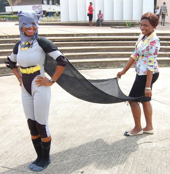 Female student rocks batman attire during OAU costume day