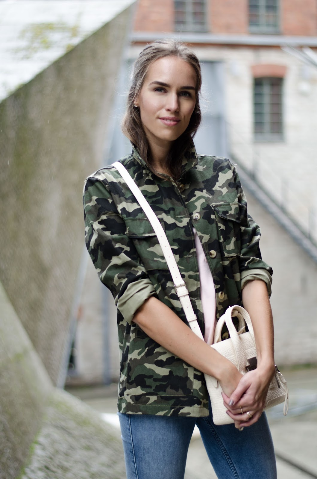 military camo jacket outfit