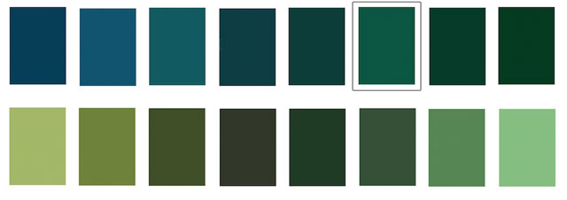 Let S Say I Own The Green On Top Row A Solid Kelly Am Painting Warm Shadow Plant And As Realize That