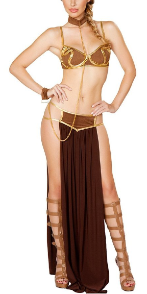 Steampunk Slave Leia cosplay princess leia costume