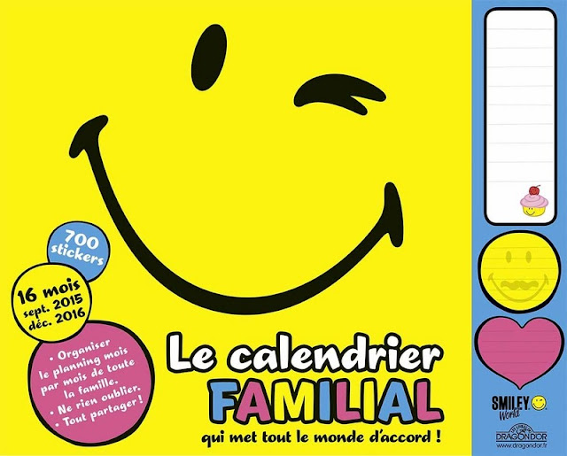 ORGANISEUR FAMILIAL SMILEY