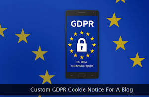 GDPR notice within a smartphone