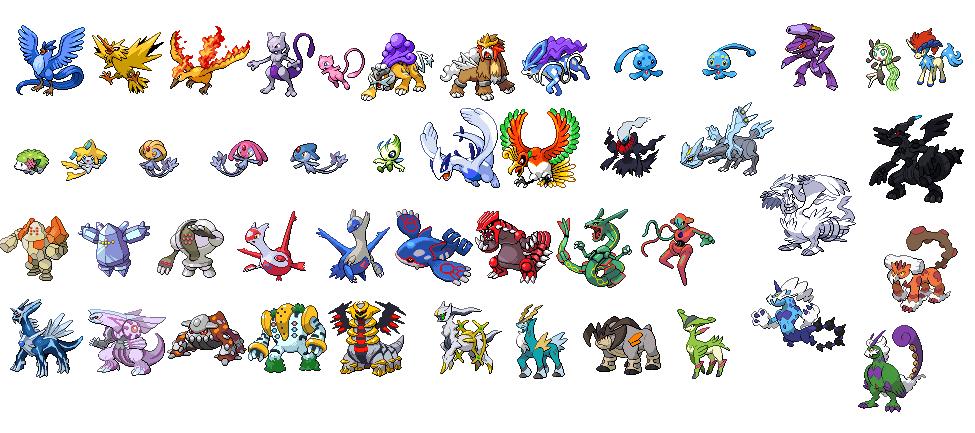 All Legendary Pokemon Names Images | Pokemon Images