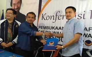 Ricky Subagja Daftar Cawalkot Bandung 2017 ke Partai Nasdem
