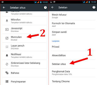Cara Hentikan Jendela PopUp di Chrome Android