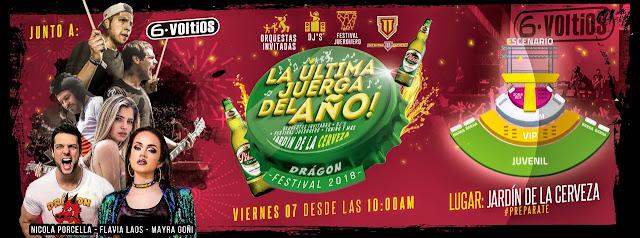 Dragon 2018, 6 voltios en Arequipa