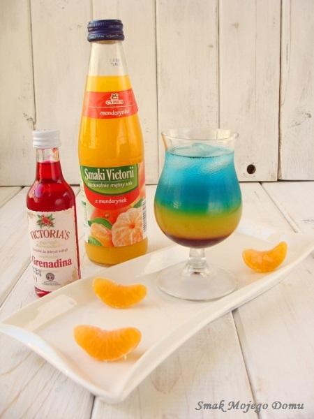 """Drink """"Mandarynkowy Raj"""" z Blue Curacao"""
