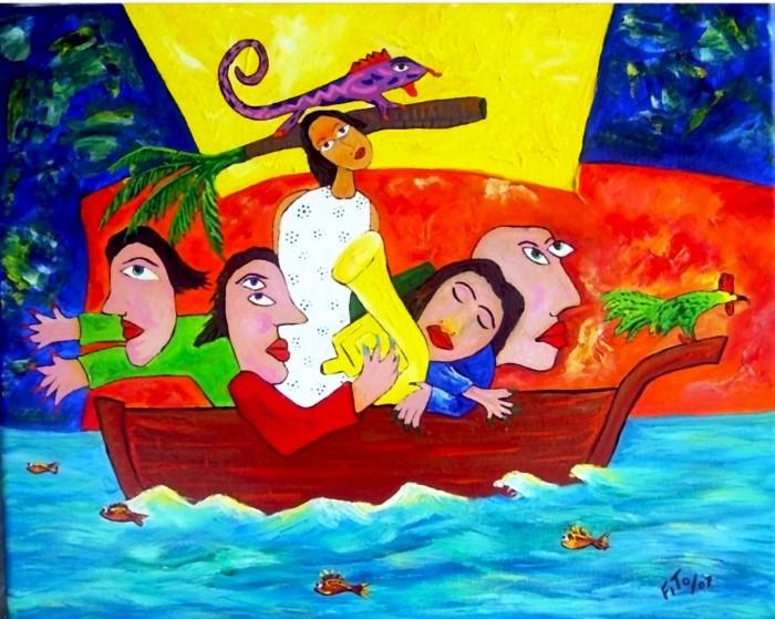 Кубинский художник. Adolfo Flores