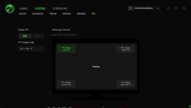 Ternyata Razer Game Boster bisa mengukur kecepatan layar dengan satuan FPS
