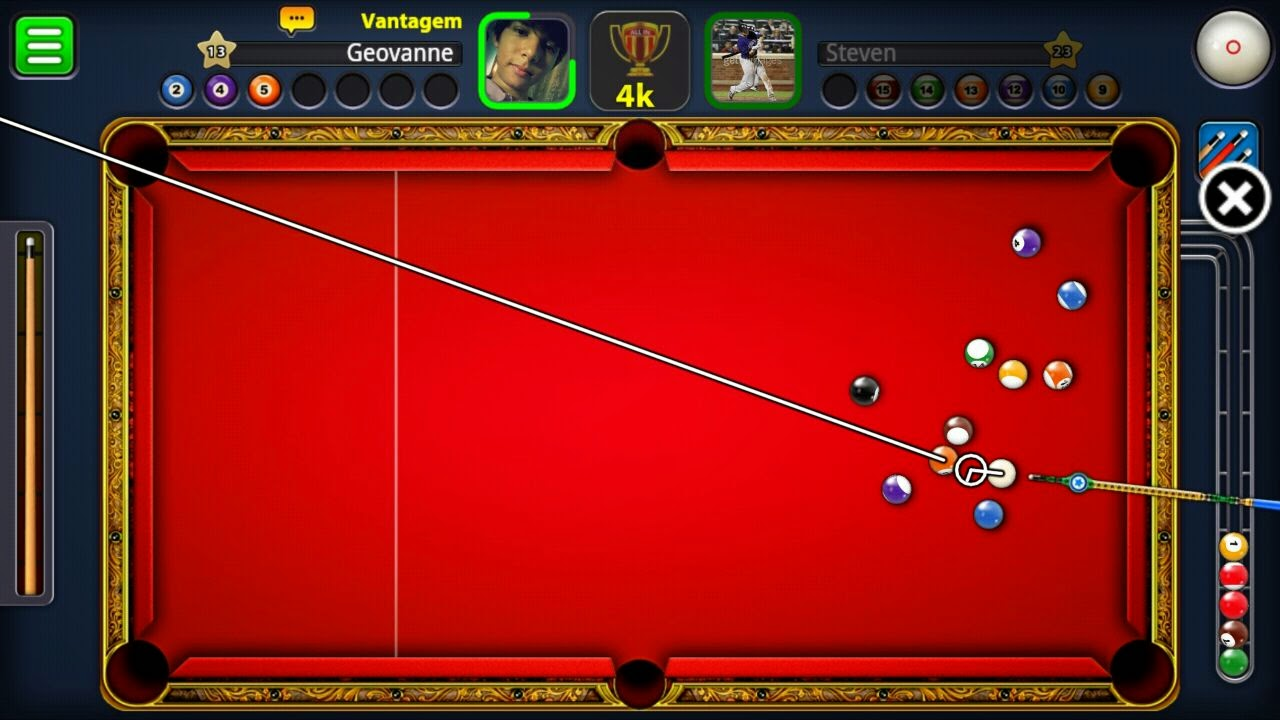 8 Ball Pool MOD APK Hack Mira infinita