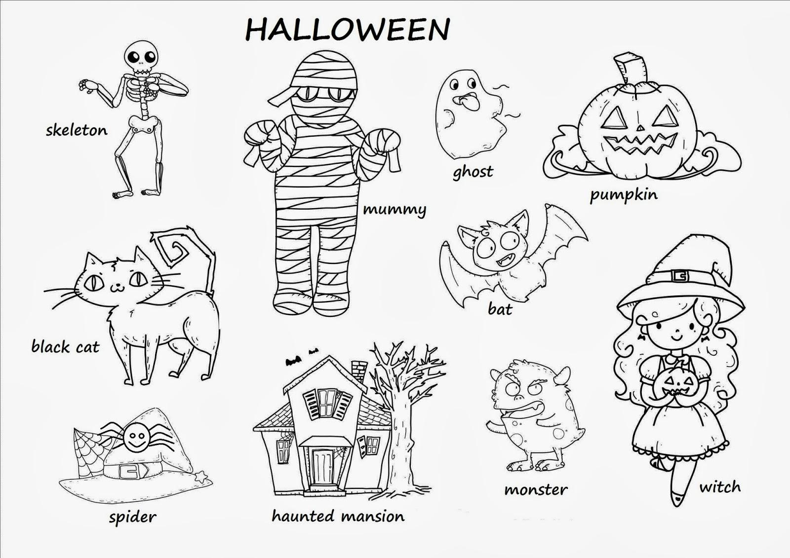 Adjetivos De Halloween Para Ninos