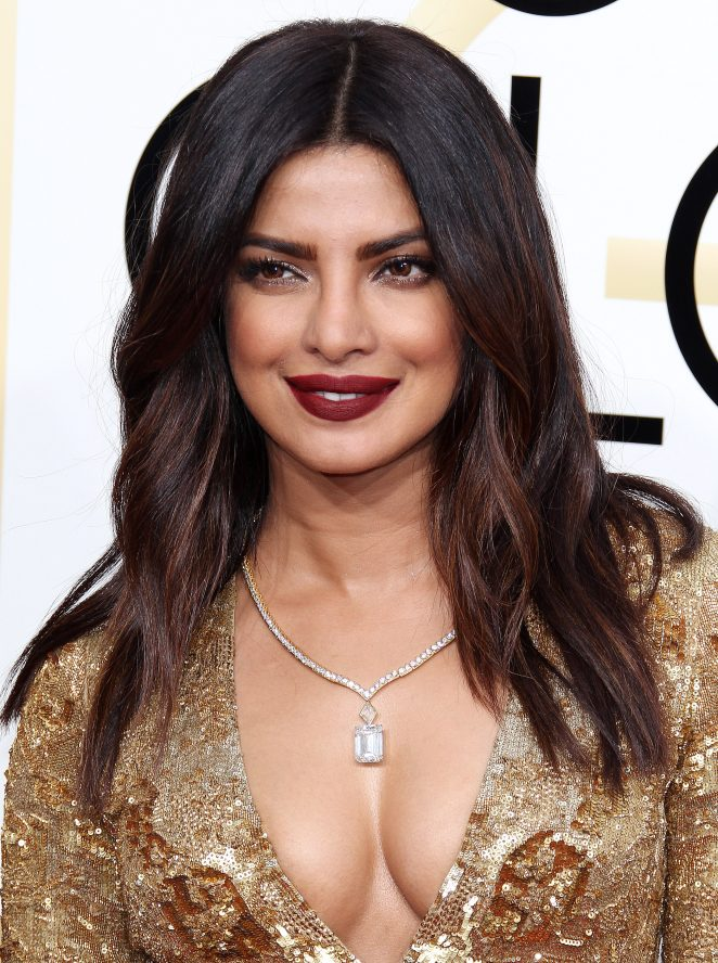 Priyanka Chopra In Yellow Dress At Grammy Celebrations