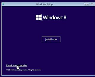 Solusi dan Cara Mengatasi Windows 8 Gagal Masuk Booting