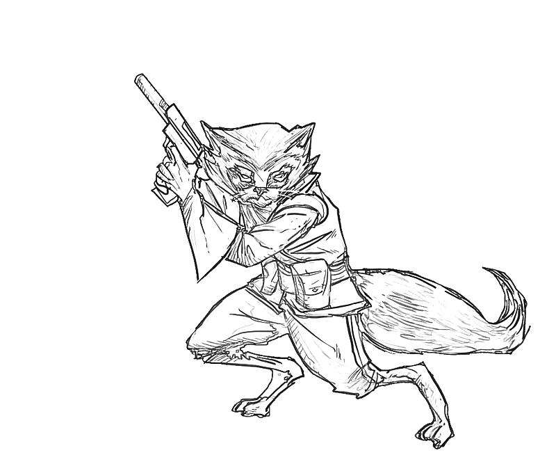 rocket raccoon coloring pages | Rocket Raccoon Standy | Lowland Seed