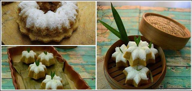 Cara Membuat Kue Putu Ayu Kukus Isi Gula Merah Yang Enak