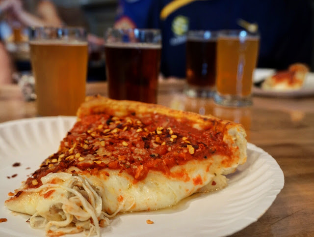 Chicago Beer Experience Tour - deep dish pizza from Giordano's