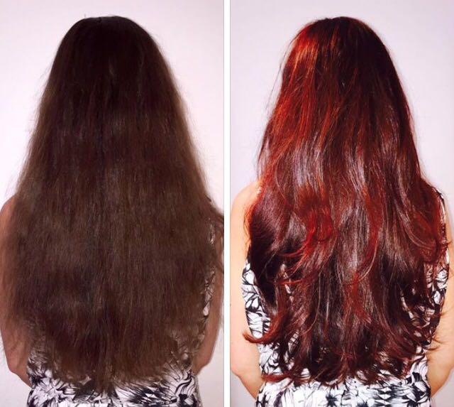 Beautybymarshmelli Elumen Von Dunkelbraun Auf Rot Ohne Blondieren