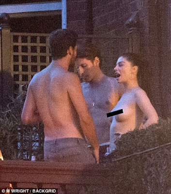 1b - Scott Disick Hangs Out With Topless Woman in London