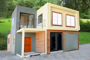 Casas contenedores for Cheapest way to build a home