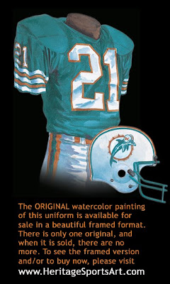 Miami Dolphins 1980 uniform