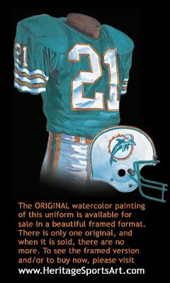 Miami Dolphins 1980 uniform