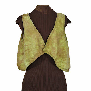 cropped linen hand dyed linen lagenlook vest from secret lentil