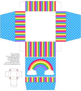 rainbow printable box