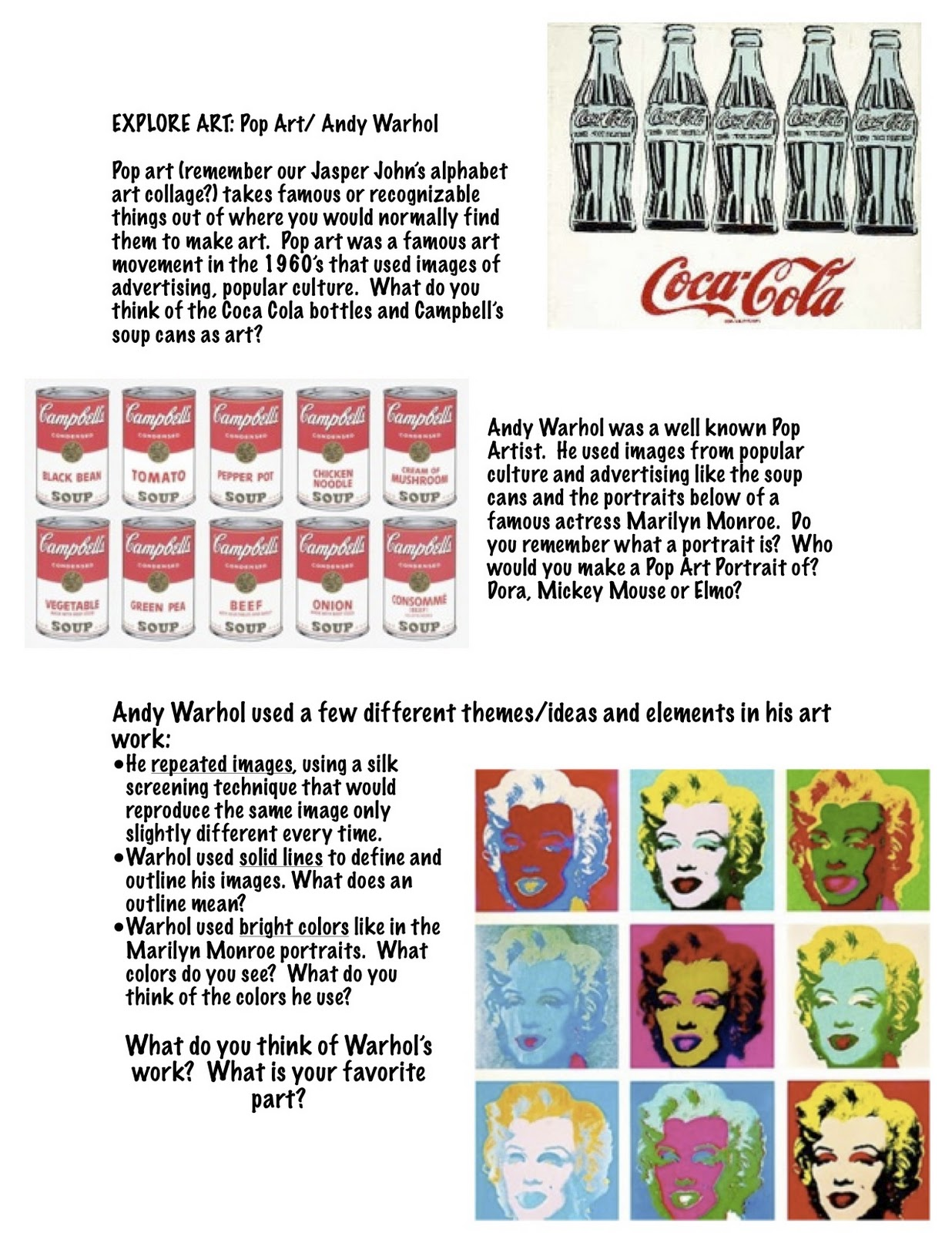 Keeping Up With My Joneses Explore Art Projects Pop Art