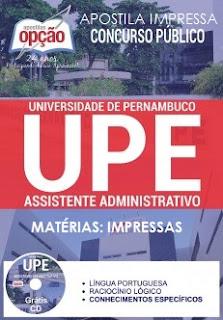 Apostila Impressa Concurso UPE 2017 ASSISTENTE ADMINISTRATIVO