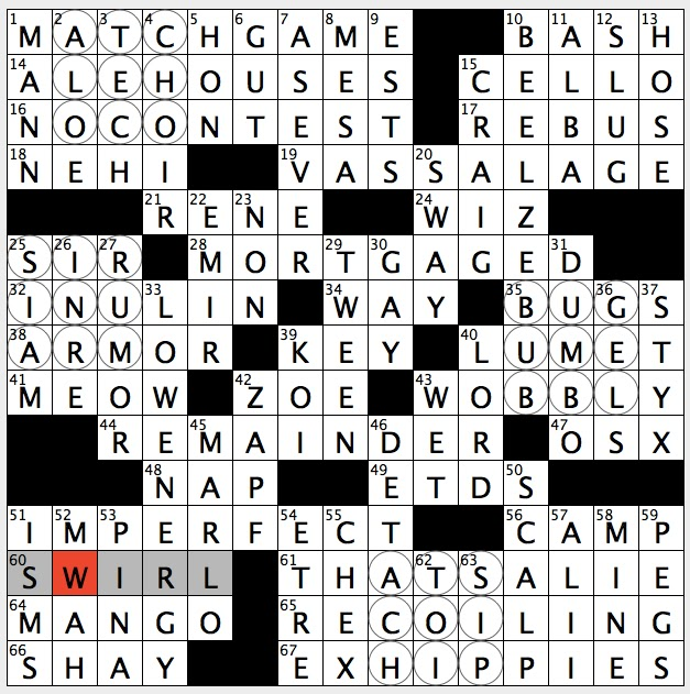 Rex Parker Does The Nyt Crossword Puzzle Starchy Substance Found In Some Plant Roots Tue 8 23 16 Soda Brand Introduced In 1924 Bond Player After Brosnan Duchess Of Goya
