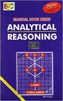 Analytical Reasoning by M.K Pandey: best books for bank po/clerk