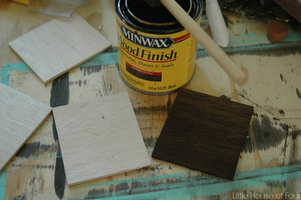 Painting wood tags