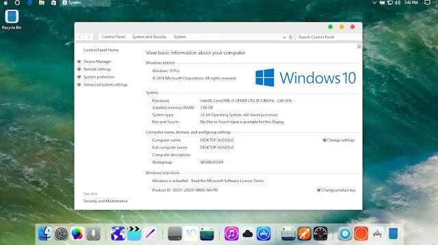 Hướng dẫn cài đặt giao diện IOS 10 cho Windows 10 Anniversary Update