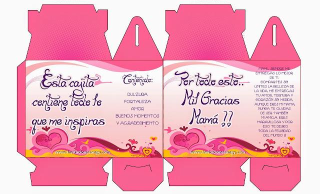 Cajas para imprimir y poner regalos día de la madre