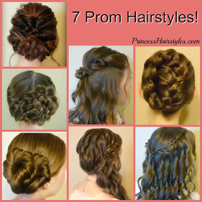 7 Prom Hairstyles. Simple video tutorials #prom #promhair #curls #promhairstyle #updo #braids #halfup