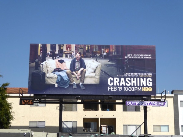 Crashing series launch billboard