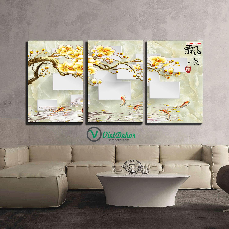 Tranh bộ treo tường hoa phong lan