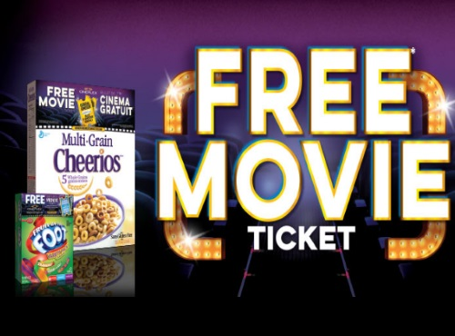 General Mills Cineplex Free Movie Ticket Offer