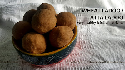 Atta Ladoo Recipe / Wheat Ladoo Recipe