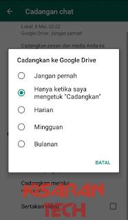 Cara Cadangkan Chat Whatsapp Ke Google Drive