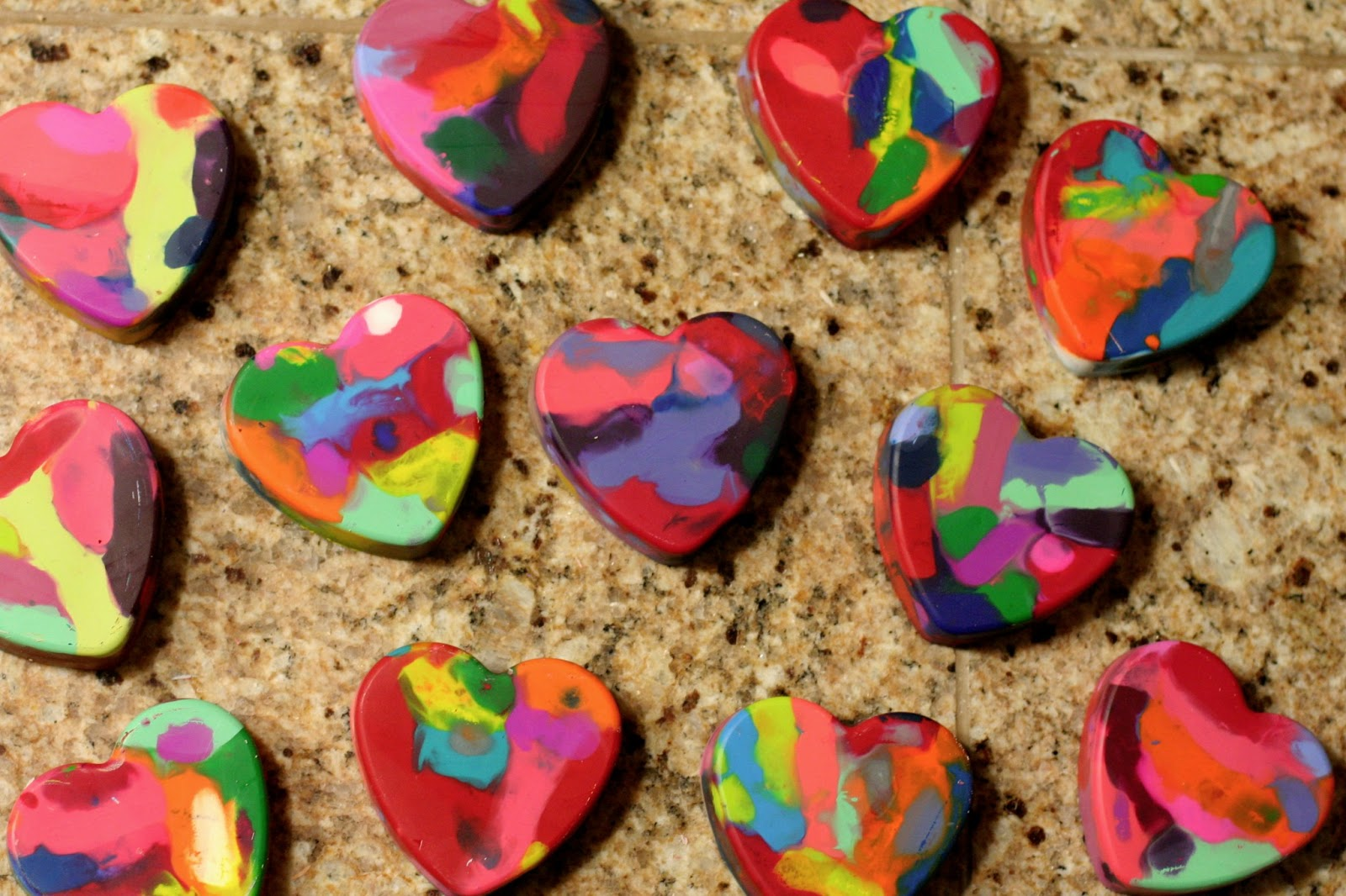 Making Valentine Heart Crayons