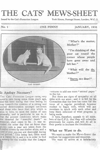 The Cats' Mewsheet January 1931